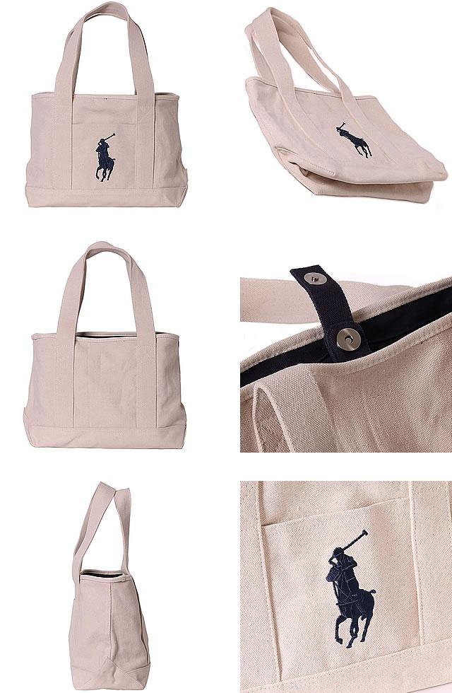 [Last SALE 11880 Yen to 6980 yen, Polo Ralph Lauren tote bag Polo Ralph  Lauren big pony canvas tote bag Canvas Tote Medium [S]