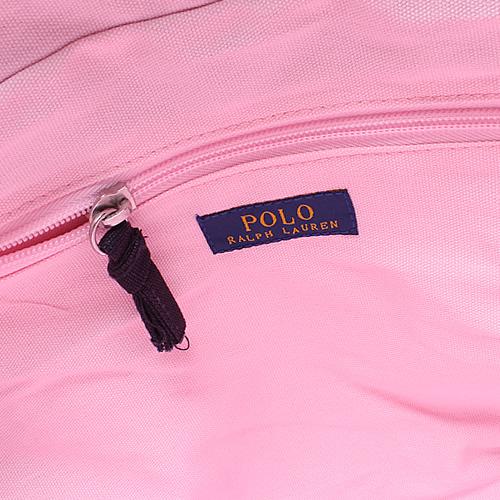 ポロ ラルフローレン Polo Ralph Lauren トートバッグ 国内正規品 ビッグポニー ファスナー ピンク a4サイズ キャンバス 大きめ 布 ブランド CAMINO TOTE [S]