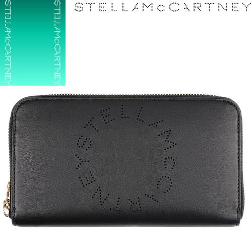 ステラマッカートニー Stella McCartney 財布 長財布 レディース ブランド ラウンドファスナー ウォレット 黒 ブラック 502893 W9923 [S]