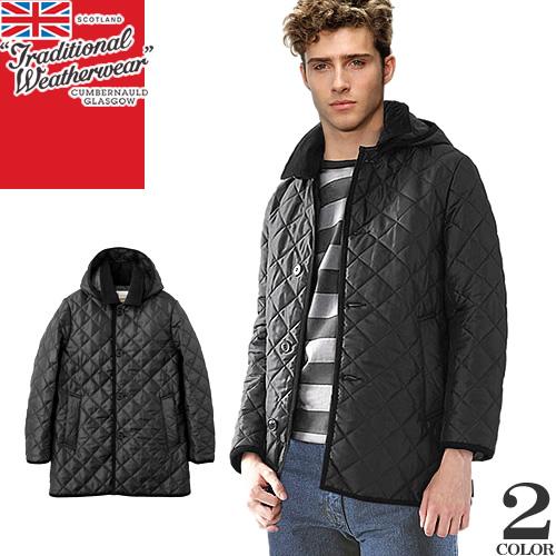 トラディショナル ウェザーウェア ダービーフード キルテッド メンズ キルティング コート 2019年新作 ジャケット ブランド 大きいサイズ 撥水 防寒 ブラック ネイビー 黒 TRADITIONAL WEATHERWEAR DERBY HOOD QUILTED