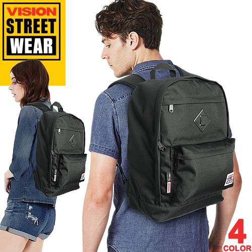 [最終SALE] ヴィジョン ストリート ウェア VISION STREET WEAR VSPC503N ビジョン バックパック リュック 通学 軽い 大容量 メンズ レディース 黒 ミリタリー