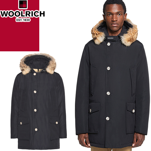 Size water repellency black WOOLRICH ARCTIC PARKA DF WOCPS2880 UT0108 which latest アークティックパーカブランド has a big for Ulrich down jacket down coat men long