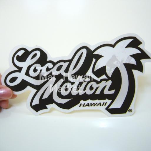 夏威夷粘纸Local Motion(本地的动作)(白)(小)冲浪板单板滑雪粘纸