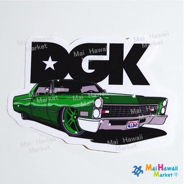 ハワイ ステッカーDGK アメ車【ハワイアン雑貨】【ハワイ雑貨】【DM便・ネコポス対応可】