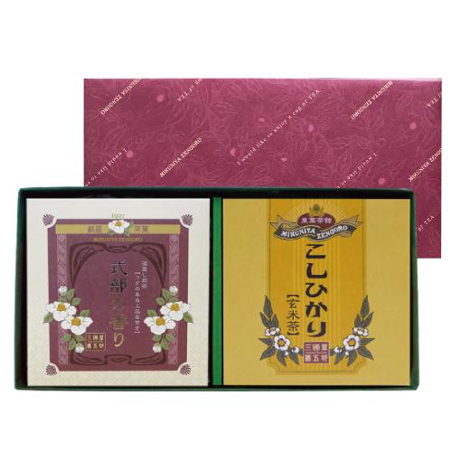 海外並行輸入正規品 三国屋善五郎 式部の香り 初売り こしひかり玄米茶のセット