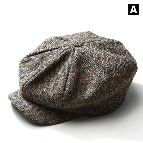 c34753b7 maine1988: Ireland made by HANNA HATS wool Tweed newsboy mens ...