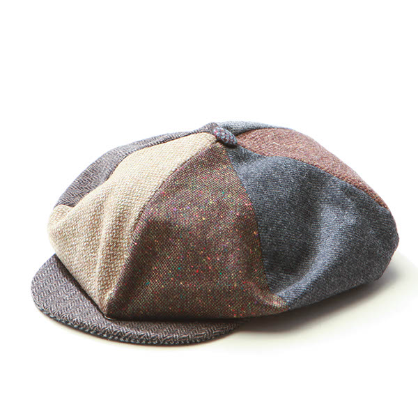61bab4ef Ireland made by HANNA HATS 93B1 GATSBY patchwork Tweed newsboy mens ...