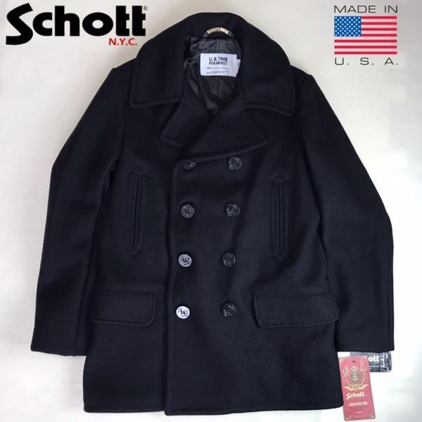 アメリカ製 送料無料 Schott【ショット】 782US WOOL 4POCKET PEA COAT ヘビーメルトン ピーコート メンズ(男性用)【smtb-m】
