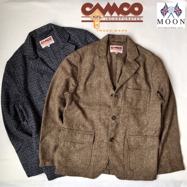 送料無料 CAMCO【カムコ】TWEED 3B JACKET ツイード ウール テーラード ジャケット メンズ(男性用) 【smtb-m】