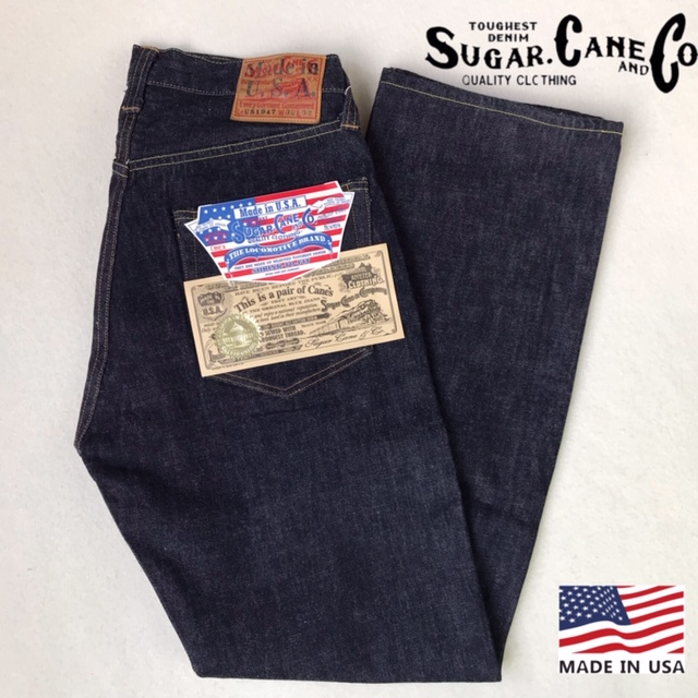 送料無料 SUGAR CANE【シュガーケーン】US 1947 Made in U.S.A デッドストックデニム ジーンズ 13oz ストレート SC41872 メンズ(男性用)【smtb-m】