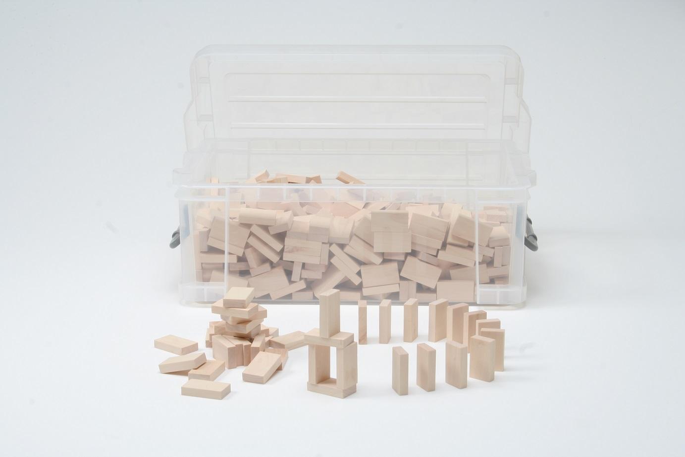 【送料無料】『木製 ドミノたおし500 (小) コンテナBOX』