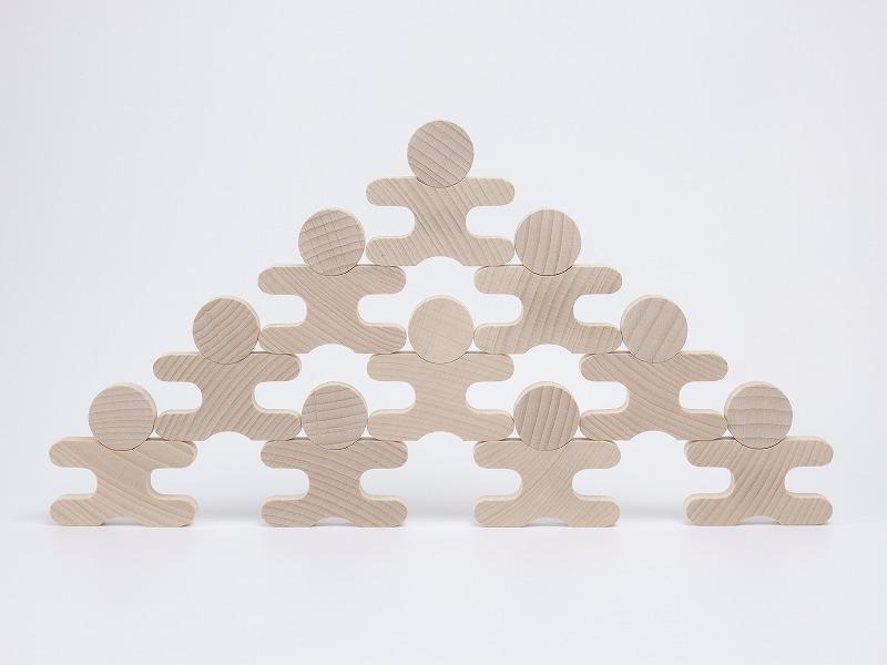 ★送料無料★『忍者(112個セット)』【木製 知育玩具】【木のおもちゃ】【積み木】
