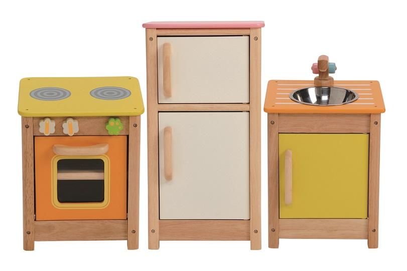 ★送料無料★『木製 マイプレイキッチンセット』【木製 知育玩具】【木のおもちゃ】【ままごと】