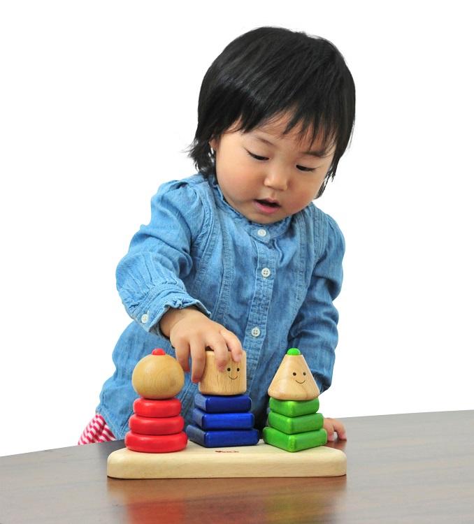 配送員設置送料無料 3つの基本の知育要素がセットされたスタッキングトイです 送料無料 ラッピング可 アウトレット ジオトリオ ポイント 知育玩具 木製 木のおもちゃ