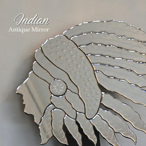 【送料無料】壁掛けミラー  アンティーク調ミラー ベネチアン Indian インディアン