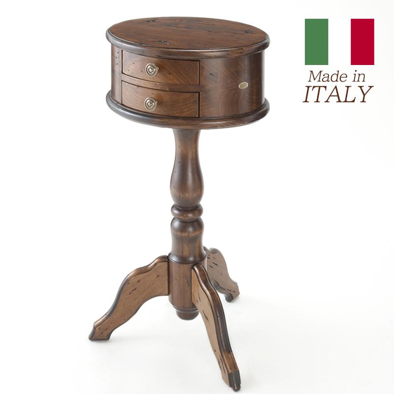 カパーニ CAPANNI サイドテーブル 引き出し付き/テーブル ミニテーブル コーヒーテーブル カフェテーブル 高級 おしゃれ アンティーク スタイル 木製 イタリア製 輸入家具