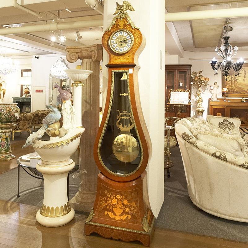 イタリア製 ホールクロック / クロック 時計 柱時計 大型置き時計 置時計 振り子 高級 高級家具 最高級 ロココ 完成品