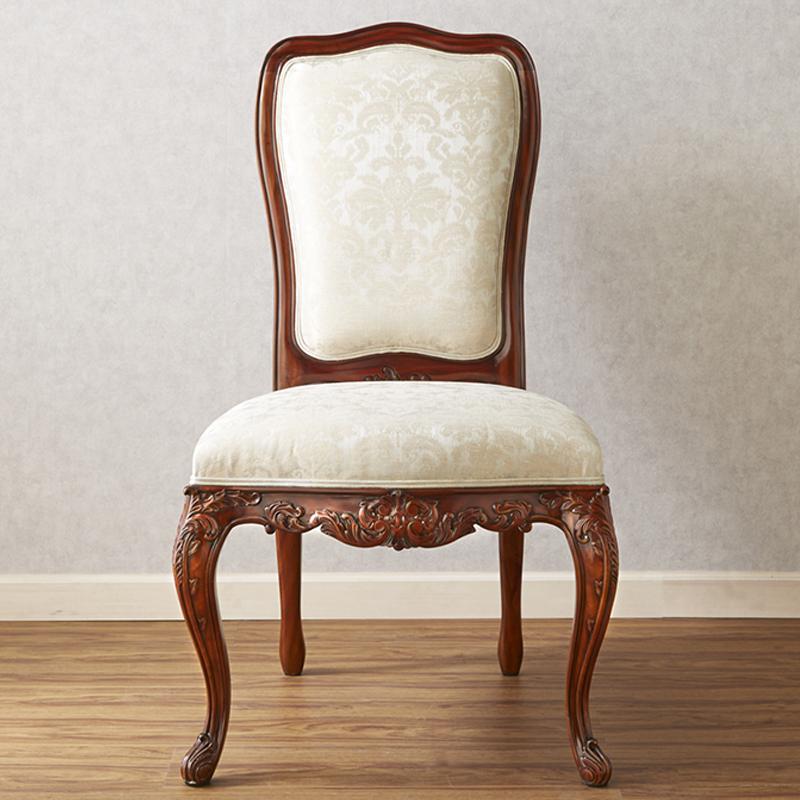ジャンセン チェア 幅63.5cm / JANSEN ダイニングチェア サイドチェア チェア 椅子 高級 高級家具 最高級 ロココ 白 ホワイト 茶 ブラウン 猫脚 彫刻 エレガント