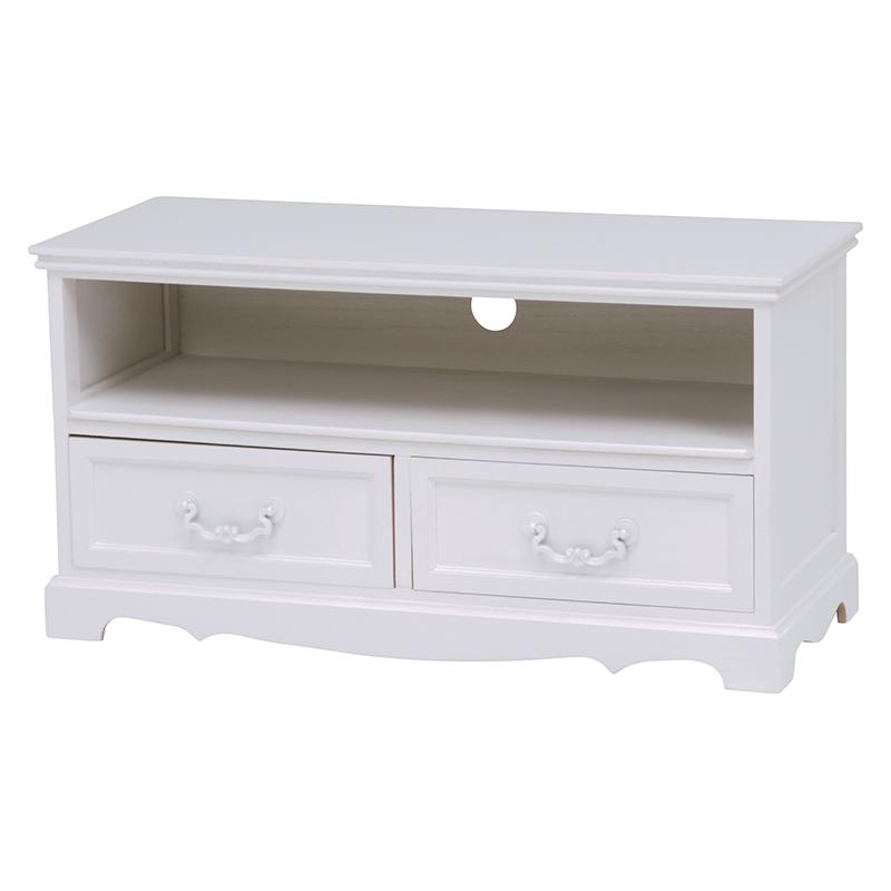 テレビ台 ホワイト 幅80cm / テレビボード テレビラック サイドボード リビング収納 扉付き ホワイト 白 白家具 姫系 可愛い 大人可愛い