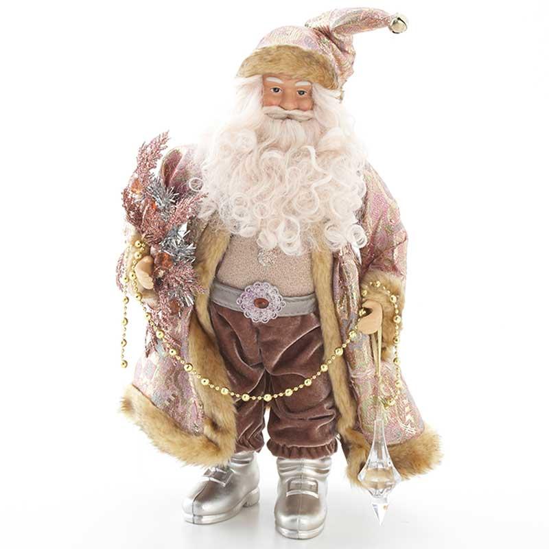 [送料無料] ハルモニア サンタクロース ローズピンク 高さ55cm / サンタ 人形 置物 フィギュア インテリア クリスマス かわいい おしゃれ プレゼント ギフト Harmonier
