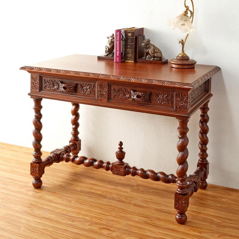 コンソールテーブル 幅105cm オールドタイムス / アンティーク スタイル クラシック オーク材
