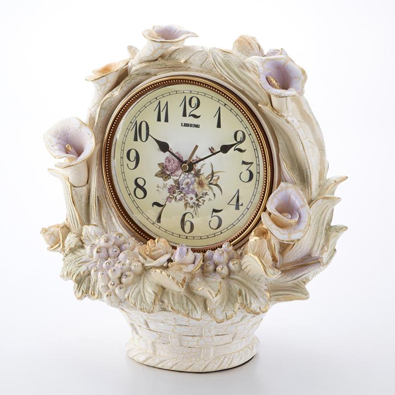 スタンドクロック アサガオ 幅36cm/置き時計 朝顔 薔薇 ローズ 花 フラワー クロック フロアクロック インテリア おしゃれ 可愛い 大人可愛い リビング 寝室