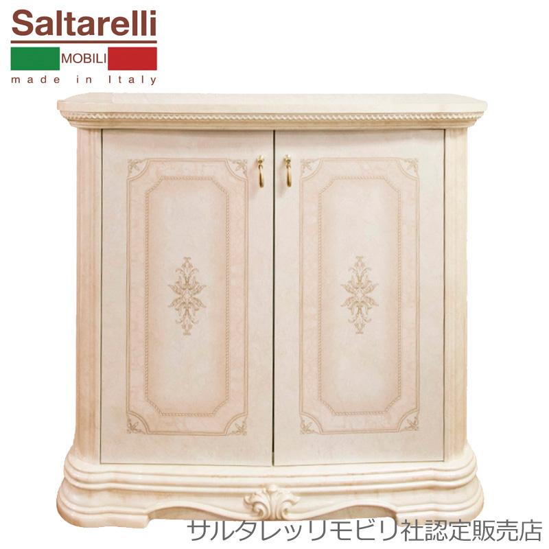 [送料無料] サルタレッリ アマルフィ2ドアサイドボード アイボリー 幅92cm 白家具 白 大人可愛い プリンセス おしゃれ アンティーク デザイン