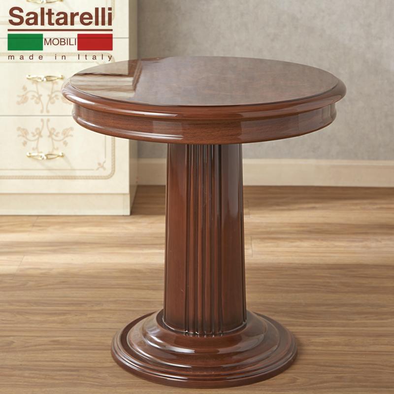 [送料無料] サルタレッリ フローレンスランプ テーブル (ミニテーブル) ウォールナット色 幅60cm 大人可愛い プリンセス おしゃれ アンティーク デザイン