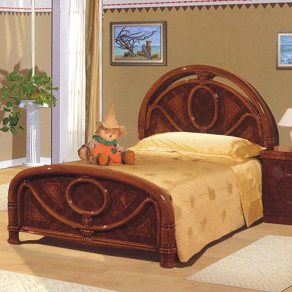 [送料無料] サルタレッリ フローレンスシングルベッド ウォールナット 幅116cm ロココ おしゃれ アンティーク デザイン