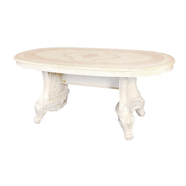 [送料無料] サルタレッリ ヴェルサイユダイニングテーブル アイボリー 幅180cm 白家具 白 ロココ おしゃれ アンティーク デザイン