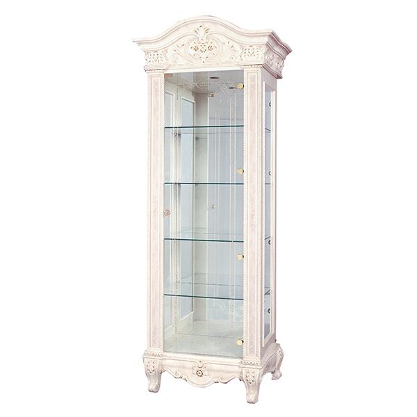 [送料無料] サルタレッリ ヴェルサイユ1ドアキュリオ アイボリー 幅81cm 白家具 白 大人可愛い プリンセス おしゃれ アンティーク デザイン