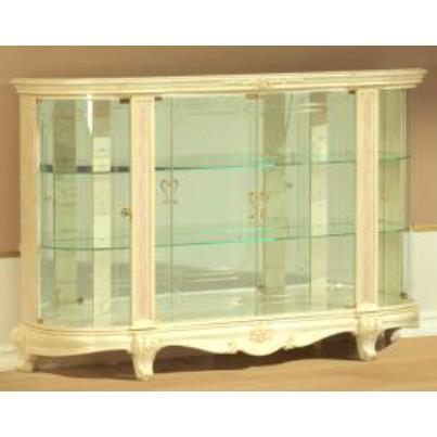 [送料無料] サルタレッリ ヴェルサイユ4ドアキュリオ (食器棚 飾り棚) アイボリー 幅166cm 白家具 白 ロココ おしゃれ アンティーク デザイン