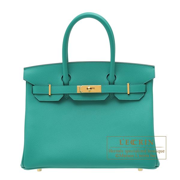 【海外限定】 エルメス バーキン30 ヴェールヴェローヌ ヴォーエプソン ゴールド金具 HERMES Birkin bag 30 Vert verone Epsom leather Gold hardware, スワロフスキー専門店Random 163853e4