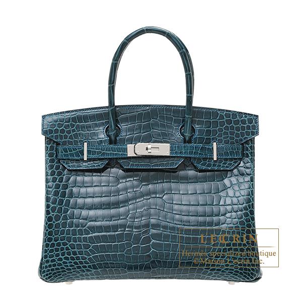 エルメス バーキン30 コルヴェール クロコダイル ポロサス シルバー金具 HERMES Birkin bag 30 Colvert Porosus crocodile skin Silver hardware