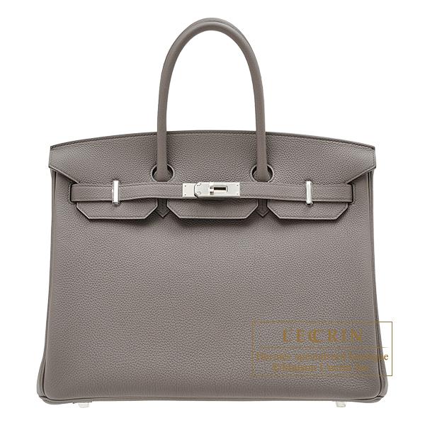 【国内在庫】 エルメス バーキン35 エタン トゴ シルバー金具 HERMES Birkin bag 35 Etain Togo leather Silver hardware, 九州トリカエ隊 fb7d72ca