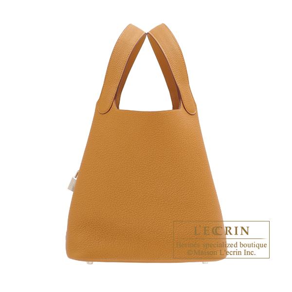 【信頼】 エルメス ピコタンロックMM セサミ トリヨンモーリス シルバー金具 HERMES Picotin Lock bag MM Sesame Maurice leather Silver hardware, おとこの雑貨屋 5f00d1a4