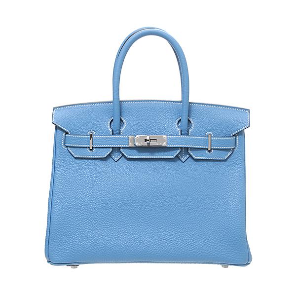エルメス バーキン30 ブルージーン トゴ ルテニウム金具 【Luxury Brand Selection】 Hermes Birkin bag 30 Blue jean Togo leather Ruthenium hardware