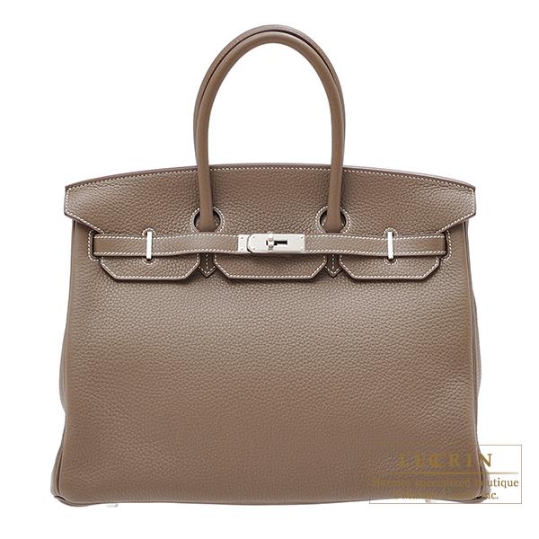 エルメス バーキン35 エトゥープ トリヨンクレマンス シルバー金具 HERMES Birkin bag 35 Etoupe grey Clemence leather Silver hardware