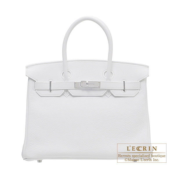 Lecrin Boutique Tokyo  Hermes Birkin bag 30 White Clemence leather ... bd64bf62cb