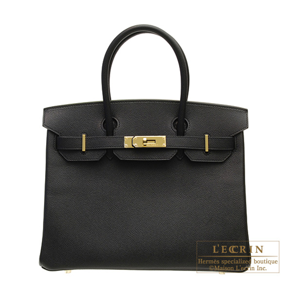 エルメス バーキン30 ブラック ヴォーエプソン ゴールド金具 HERMES Birkin bag 30 Black Epsom leather Gold hardware