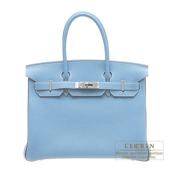 Hermes Personal Birkin bag 30 Blue Jean/Blue indigo Ruthenium hardware