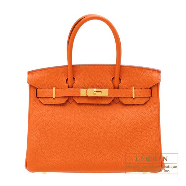 最新のデザイン エルメス バーキン30 オレンジ トゴ ゴールド金具 HERMES Birkin bag 30 Orange Togo leather Gold hardware, SCWORLDPLUS 5218a024