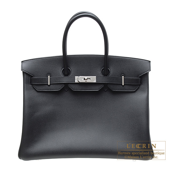 a21f2ec917b Hermes Birkin bag 35 Black Epsom leather Silver hardware