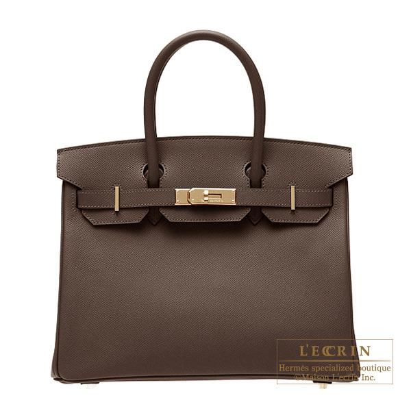 高い素材 エルメス バーキン30 ショコラ ヴォーエプソン ゴールド金具 hardware HERMES Birkin bag bag 30 leather Gold Chocolat Epsom leather Gold hardware, WAOショップ:766213ba --- camminobenedetto.localized.me