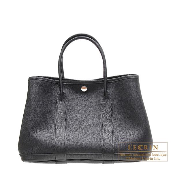 エルメス ガーデンパーティTPM ブラック ネゴンダ シルバー金具 HERMES Garden Party bag TPM Black Negonda leather Silver hardware