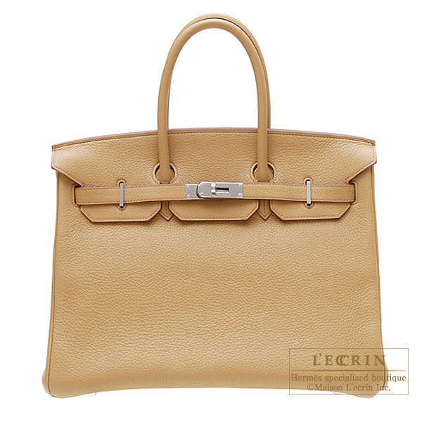 f259fb1f74ae ... purchase hermes birkin bag 35 tabac camel clemence leather silver  hardware 8805c 16e0c