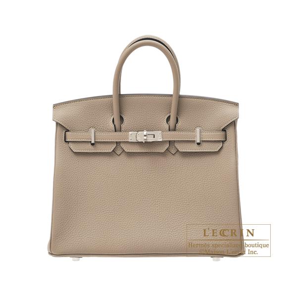 エルメス バーキン25 トゥルティエールグレー トゴ シルバー金具 HERMES Birkin bag 25 Gris tourterelle Togo leather Silver hardware