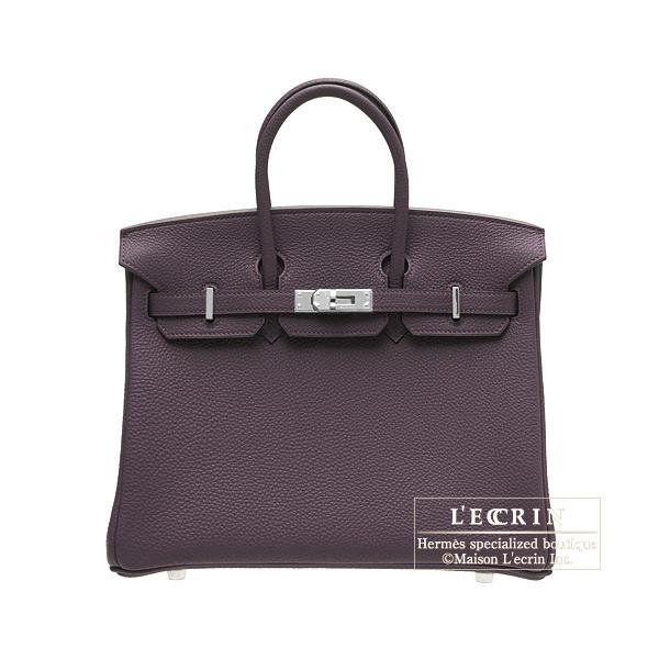 エルメス バーキン25 レザン トゴ シルバー金具 HERMES Birkin bag 25 Raisin Togo leather Silver hardware