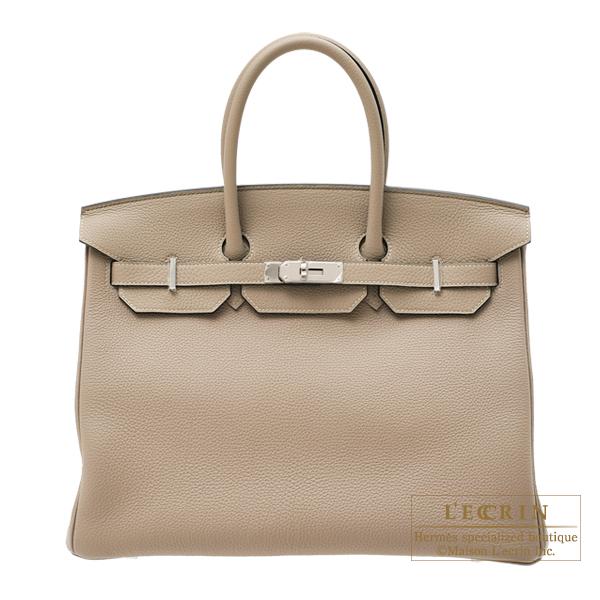エルメス バーキン35 トゥルティエールグレー トゴ シルバー金具 HERMES Birkin bag 35 Gris tourterelle Togo leather Silver hardware