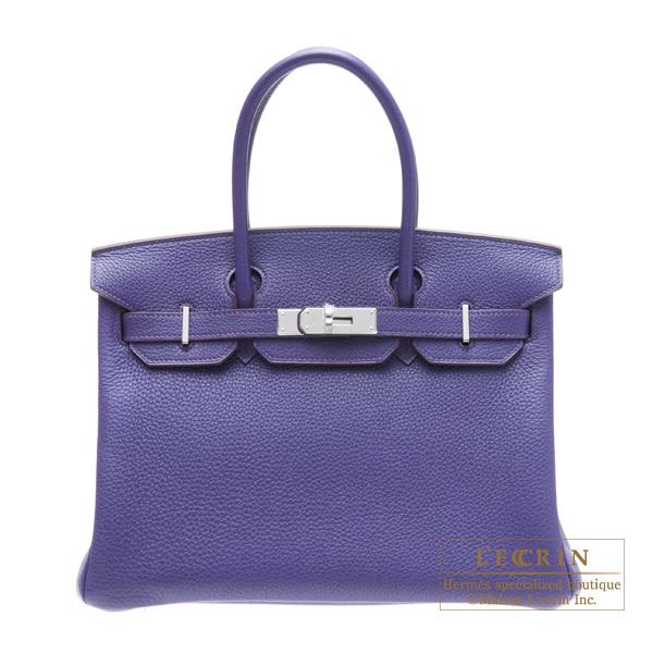 2859156ec48a Lecrin Boutique Tokyo  Hermes Birkin bag 30 Iris Togo leather Silver ...